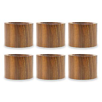 Dii Wood Band Napkin Ring (Set Of 6)