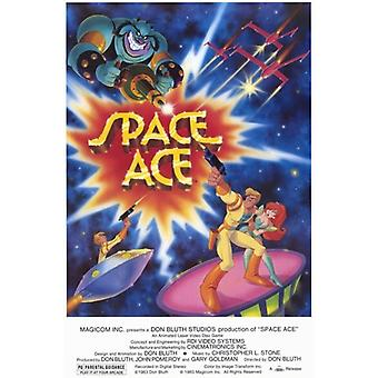 Space Ace - Videospiel-Film-Poster (11 x 17)