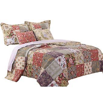 Chicago 5 piezas tela king tamaño quilt set con estampados jacobeos, multicolor
