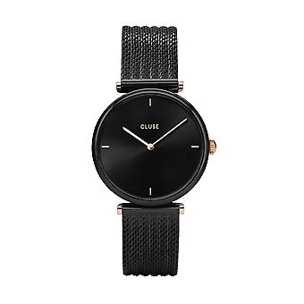 Cluse Ladies Triophe Black Circle Quartz Fashion Watch CW0101208004
