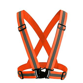 High Visibility Unisex Outdoor Reflective Elasticity Safety Vest Fit