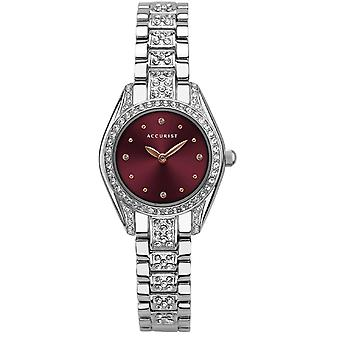 Accurist 8338 Classic Bourgogne & Silver Ladies Watch