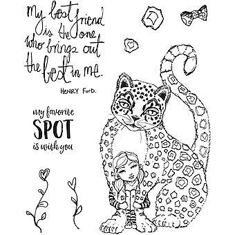 Spellbinders Best Leopard Clear Stamp Set