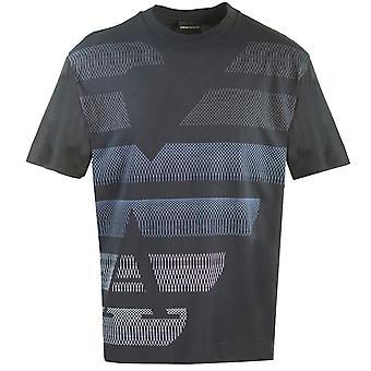 Emporio Armani große Adler Logo Marine T-Shirt