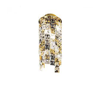 Spot De Diseño En Cristal Prisma Oro De 24 Quilates 1 Bombilla, Altura 25 Cm