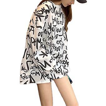 Ladies Mid-length Loose Long-sleeved T-shirt