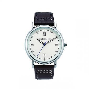 Watch Trendy Classic Hutinet CC1047-01 - watch case round Steel Bracelet leather man