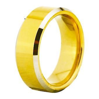 Gouden wolfraam trouwring voor mannen