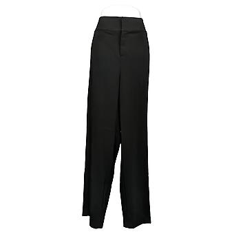 G By Giuliana Women's Plus Pants 12-Hour Stretch Wide-Leg Black 681959