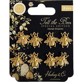 Craft Consortium Tell the Bees Special Edition Metal Charms Gouden Bijen
