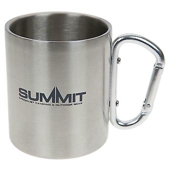 Summit 300Ml Carabiner Handled Mug - Stainless Steel