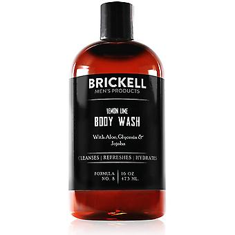 Brickell Men's Invigorating Body Wash for Men, Natural and Organic Deep Cleaning Shower Gel with