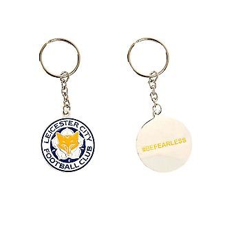 Leicester City FC Official Football Crest Metal Keyring