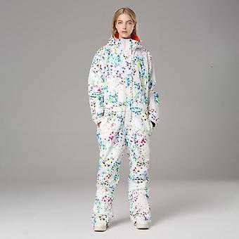 2021 Зимний лыжный костюм с капюшоном женщины комбинезон один кусок лыжный комбинезон на открытом воздухе