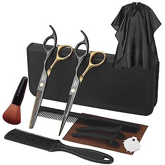 Haircut scissors straight snips thinning hairdressing barber tools lf21