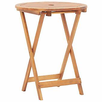 vidaXL Folding garden table 60 x 75 cm solid wood acacia