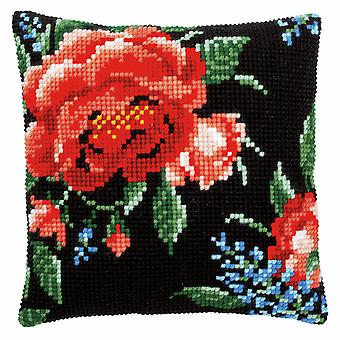 Vervaco Cross Stitch Kit: Coussin: Rose