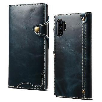 Slot per carte cassa portafoglio in vera pelle per iphone6splus blu no999