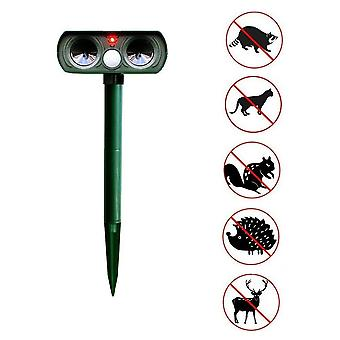 Ultrasonically Powered Solar Antiparasitic Repellent Activated By Outdoor Movement Animals To Repel Dogs Birds
