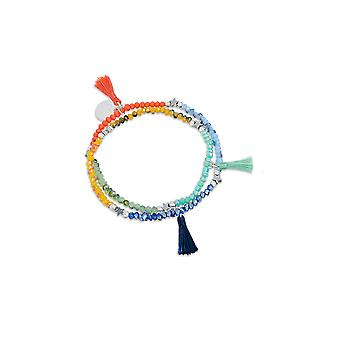 Boho betty petunia tiny tassel 2 wrap bracelet