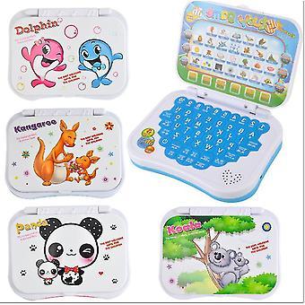 מכונת למידה לילדים קריקטורה כחולה, קיפול אנגלית לומד צעצועים חינוכיים az18609