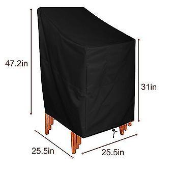 25.5*25.5*47.2In garden balcony table chair cover outdoor waterproof dustproof cover dt5291