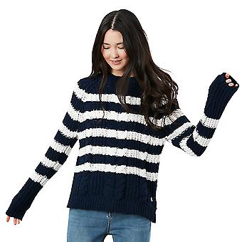 Joules Womens Seaford Chenille Relaxed Fit Cable Knit Jumper