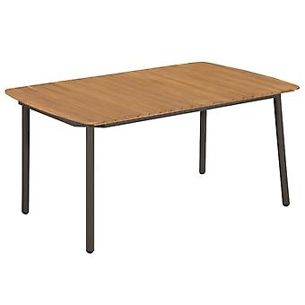 Mesa de jardín 150x90x72 cm sólido acacia madera y acero