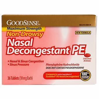 Good Sense Nasal Decongestant PE Non-Drowsy, 36 Tabs