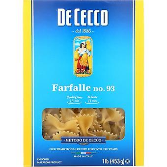 De Cecco Pasta Farfelle, Case of 12 X 16 Oz