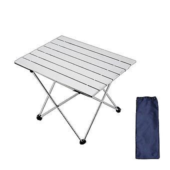 Silver 56.5*40.5*41cm ultra light aluminum alloy folding table homi4946