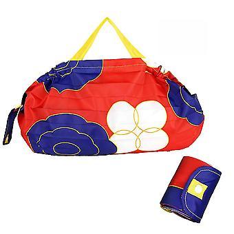 Impermeable de gran capacidad compra comestible tote bolsa de almacenamiento plegable bolsa de almacenamiento
