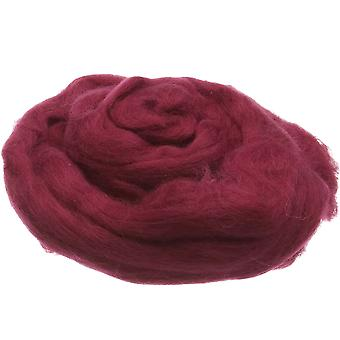 100% ren ny ull for nål filting, 50g - vin rød