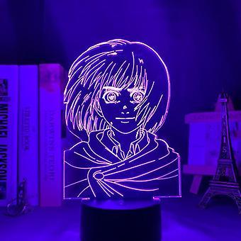 Table lamp anime attack on titan for home room decor light cool kid child gift night light