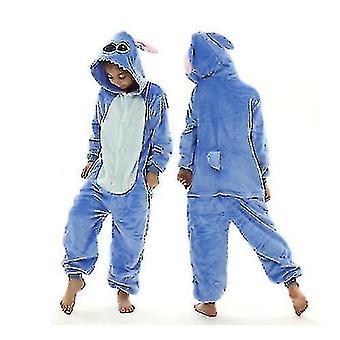 Unicorn Stitch Kigurumi Kids Children Pajamas Winter Flannel Warm Sleepwear(140cm)