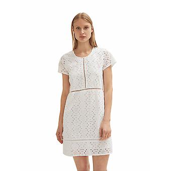 Shuuk Broderie Anglaise White Colour Mini Dress with Hem Reaches Above the Knee
