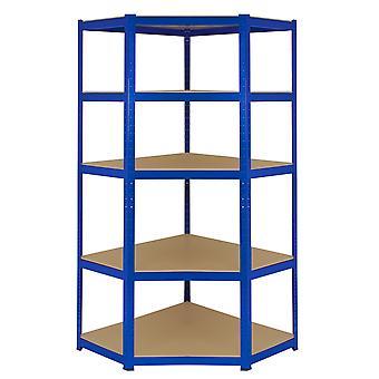 Scaffale Ad Angolo T-Rax In Acciaio Senza Bulloni Blu 90cm x 45cm x 180cm