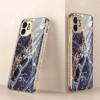 iPhone 12 Luksus Glas-Shell Guld Barok Elegante flere farver