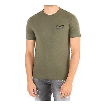 Men's Short Sleeve T-Shirt Armani Jeans 6ZPT52 PJ18Z Green