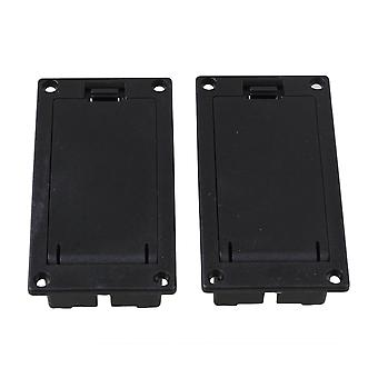 Guitar fittings parts pair acoustic guitar equalizer battery holder case for 9v battery