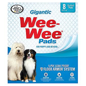 Four Paws Gigantic Wee Wee Pads - 8 count