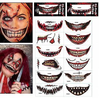 12 ورقة هالوين الرسم ملصق الوشم