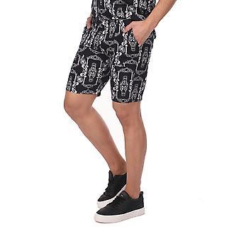 Mønstret Shorts-svart for menn