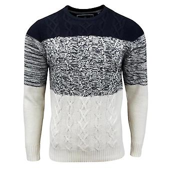 Soul Star Men's Caspian Cable Knit Knitted Jumper