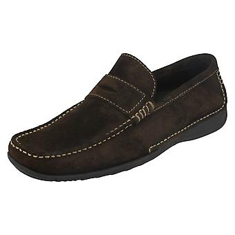 Slip Mens Loake mocassins chaussures Cortina