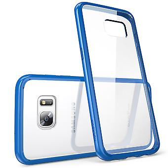 i-Blason Galaxy S7 Edge Halo Series Transparent Case  - Blue