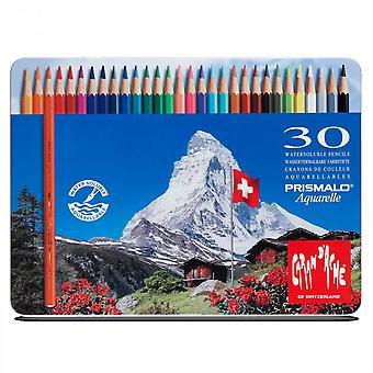 Caran D'Ache Prismalo Aquarelle Water Soluble Pencils 30 Tin