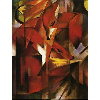 Franz Marc - The Fox 1913 Poster Print Giclee