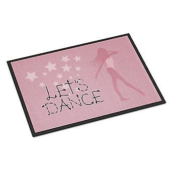 دعونا الرقص البياضات حصيرة الأماكن المغلقة أو في الهواء الطلق الوردي 24 × 36