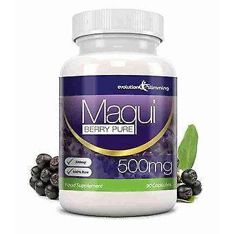 Maqui Berry antioksidantti täydennys 500mg kapselit - 90 kapselia - antioksidantti - kehitys laihtumiseen